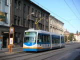 Inekon Tram on the Street in Ostrava