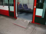 Wheelchair Loading Ramp To The Inekon Tram