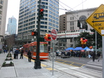 Seattle streetcar meets the monorail.