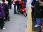 Seattle streetcar - wheelchair and baby stroller.